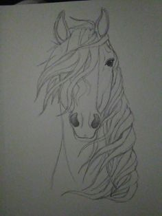 Spirit of the Wind Kaboomz Horse PencilDrawing Horse Pencil Drawing, Horse Drawings, Cool Art Drawings, Pencil Art Drawings, Art Drawings Sketches, Animal Drawings, Easy Horse Drawing, Horse Sketch, Animal Sketches