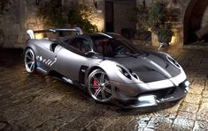 #06 Pagani Huayra BC Speed 0-60 in 2.8 seconds with a top speed of 230 mph (370 km/h) The Huayra BC is Pagani's most powerful car to date.  With 730hp due to an AMG source biturbo V12 this supercar scored the second fasted road-legal Top Gear lap ever.