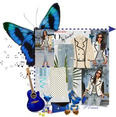 """Good Jeans blue"" by patriciavianamartins on Polyvore"