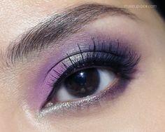 Love this eye makeup in purple!  #purple #eyemakeup #eyes #beauty - bellashoot.com