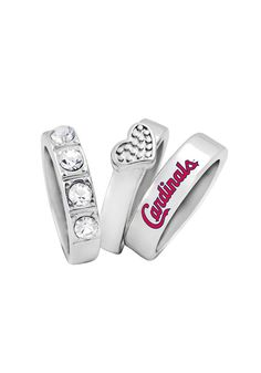 St. Louis (STL) Cardinals Undefeated Stacked Rings