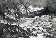 April 1, 1873: White Star liner RMS Atlantic sinks off the coast of Nova Scotia after striking underwater rocks on Mars Island. Survivors were forced to swim or climb ropes first to a wave-swept rock and then to a barren shore. Residents of the tiny fishing village of Lower Prospect and Terence Bay soon arrived to rescue and shelter the survivors, but at least 535 people died, leaving only 371 survivors. The ship's manifest indicates that of the 952 aboard, 156 were women and 189 were…
