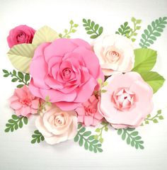 Extra large Paper Flower Backdrop Nursery Decor