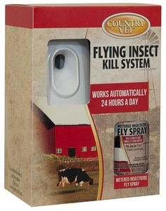 Automatic Flying Insect Kill System for Farms, Dairies and Kennels 1 Can w/Dispenser