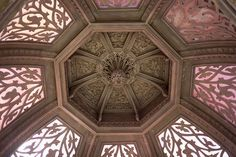 Monserrate - 31 | Main Hall dome decorated with plasterwork in a Moorish design
