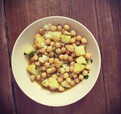 My Inspire Book: Garbanzos al curry! / Chickpeas curry