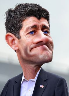 Paul Ryan Caricature by DonkeyHotey, via Flickr