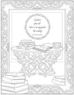 Welcome to Dover Publications - CH Jane Austen Witty & Wise Detailed Coloring Pages, Adult Coloring Pages, Coloring Sheets, Free Coloring, Coloring Books, Jane Austen, House Colouring Pages, Dover Publications, Colouring Techniques