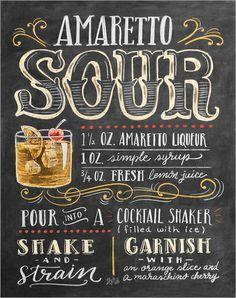 Poster Amaretto-Sour Rezept