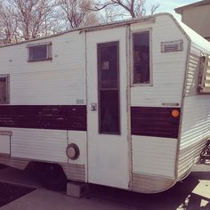 Our cutie of a vintage trailer a 1964 Aristocrat Lo Liner - Before Paint