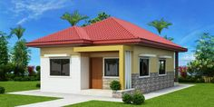 This 3 bedroom house design has a total floor area of 82 square meters. Minimum lot size required for this design is 167 square meters with 10 meters lot width to maintain meters setback both side. My House Plans, Simple House Plans, Simple House Design, House Front Design, Cool House Designs, Bungalow Haus Design, Small Bungalow, Modern Bungalow House, Bungalow House Plans