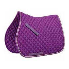 Contrast All Purpose English Saddle Pad Purple/Lime - Item # 32254