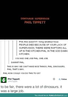 awesome, funny, and lol image Tumblr Funny, Funny Memes, Jokes, Funny Videos, Humor, Jurrassic Park, You Had One Job, Nerd, Lol