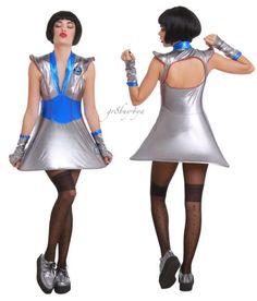 LIP SERVICE GALAXY SPACE FUTURE CYBERPUNK METALLIC HOOP SKIRT DRESS COSTUME SET #LIPSERVICE #hoopskirtDress
