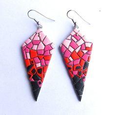 Polyclay mosaic earrings