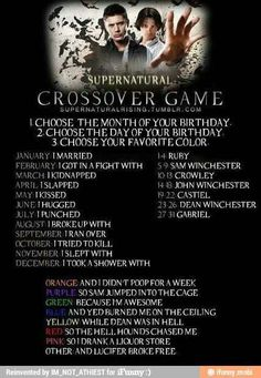 I broke up with Sam Winchester and burned on the ceiling...I guess that's what happens when you date Sam