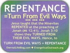 Bible definition of repentance