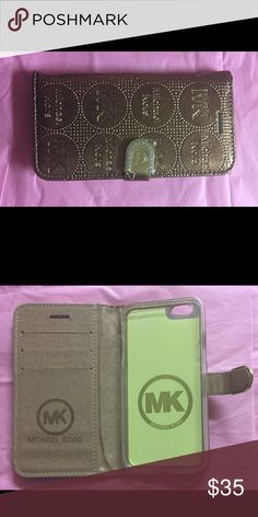 MK Metallic Bronze Wallet IPhone 6 Plus MK Metallic Bronze Wallet Style IPhone 6 Plus Case! Accessories Phone Cases
