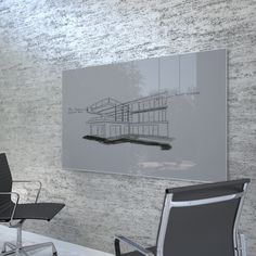 This is the one. Clarus Glassboards (modern dry erase board. The Surround product frames the board.