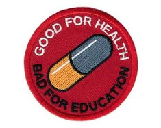 Velcro Akira Good for Health Bad for Education Cyberpunk Neo-Tokyo Tactical Patch Velcro Akira Good for Health Bad for Education Cyberpunk Neo-Tokyo Tactical Patch<br> Embroidered patch Size: inches Velcro hook backing Made by Titan one Punk Patches, Name Patches, Jellyfish Kids, Ocean Theme Crafts, Neo Tokyo, Activities For 2 Year Olds, Tactical Patches, Pop Culture References, Morale Patch