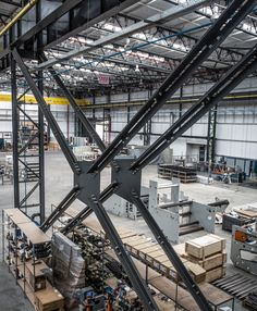Factory Architecture, Stairs Architecture, Industrial Architecture, Architecture Details, Beam Structure, Steel Structure Buildings, Building Structure, Steel Trusses, Warehouse Design