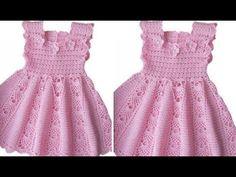 easy and simple crochet dress Crochet Bikini Pattern, Crochet Patterns, Diy Crochet, Simple Crochet, Baby Dress Patterns, Baby Girl Crochet, Lace Embroidery, Crochet Earrings, Summer Dresses
