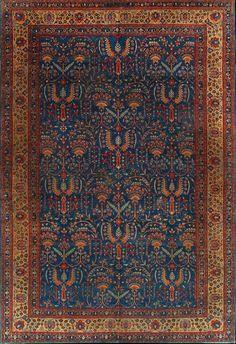 Antique Tabriz Rug –  Circa:1900 Sizes:8.1X12.1