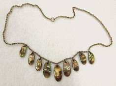 Blister Pearl Drop Necklace Gold Filled Late Victorian