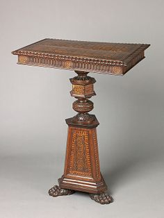 Small table Unknown Italian 19th Century Walnut poplar maple and other woods