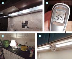More on-site light-meter readings lead to evidence-based recommendations for effective undercabinet lighting Linear Lighting, Strip Lighting, Modern Lighting, Led Under Cabinet Lighting, Puck Lights, Light Meter, Working Area, Bathroom Medicine Cabinet, Kitchen Remodel