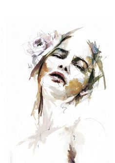 Florian Nicolle is a graphic designer and illustrator freelancer based in France. Florian has a degree in Graphic Design and have passion on illustration. Art And Illustration, Portrait Illustration, Art Illustrations, Watercolor Images, Watercolor Portraits, Watercolor Paintings, Arte Pop, Art Graphique, Fine Art