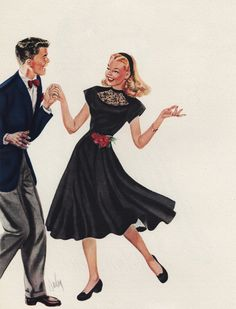 1947 June Bentley Date Dress Original Vintage Print Ad Lindy Hop, Shall We Dance, Just Dance, Vintage Pictures, Vintage Images, Victorian Pictures, Vintage Prints, Vintage Art, Vintage Dance