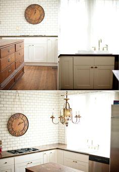 My DIY budget-friendly vintage rustic kitchen renovation with links to… Kitchen Cabinets Pictures, Kitchen Remodel Pictures, Kitchen Units, Kitchen Tile, Kitchen Reno, Kitchen Appliances, Antique Kitchen Decor, 1920s Kitchen, Rustic Kitchen