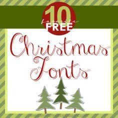 Top 10 Best Free Christmas Fonts | www.MoritzFineBlogDesigns.com