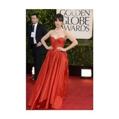 70th Annual Golden Globe Awards - Arrivals - 01.13.13 - 002 - Zooey Deschanel Web | Gallery found on Polyvore