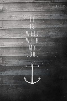 A Hymn of peace...When peace, like a river, attendeth my way,  When sorrows like sea billows roll;  Whatever my lot, Thou has taught me to say,  It is well, it is well, with my soul