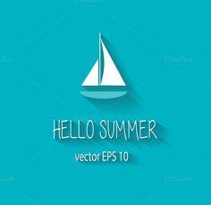 Yacht summer logo background vector by ralelav on @creativework247