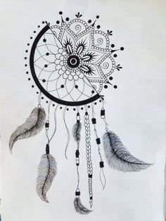 1/2 dream catcher 1/2 mandala