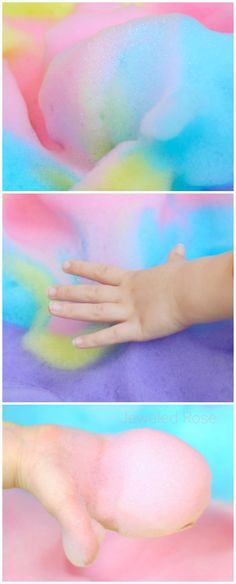 Kool-aid FOAM! Gloriously scented, delightfully fluffy, and irresistibly squishy fun for kids! Oh, and the best part is that you can most likely go into your kitchen and make this RIGHT NOW; it is so easy!