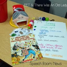 "The ""There Was an Old Lady"" books and my EET kit are two absolute favorites in my speech room. I wanted to share how I combine my companion kits and the EET.  To use the EET, we start with my spinner. Once a student selects the item to describe we use the EET strand to [...]"