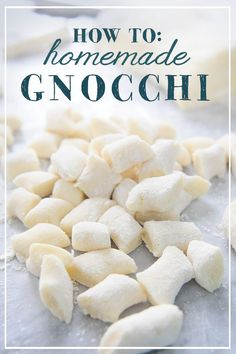 How to make homemade potato gnocchi! This dish is an Italian favorite. Learn how to make those fluffy , delicious clouds yourself!