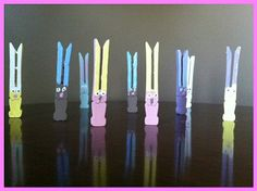 Make clothespin bunnies for Easter