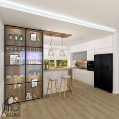 Kitchen Bar Design, Home Decor Kitchen, Interior Design Kitchen, Home Kitchens, Townhouse Interior, Contemporary Kitchen Cabinets, Küchen Design, Kitchen Remodel, Dom