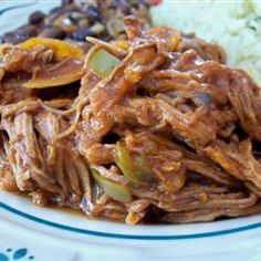 Cuban Ropa Vieja.  I have made this 5 times now.  Awesome!!  So delicious with rice or in a tortilla.  :)