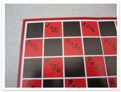 """Monday """"Make-and-Take"""" {Checker Facts or Sight Words} - a great way to use a checker board in the classroom! (with multiplication facts during Fact Practice)"""