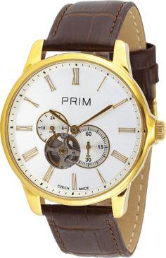 Hodinky PRIM - podrobnosti na www.hodinky-prim.eu Watches, Leather, Accessories, Self, Clocks, Clock, Ornament