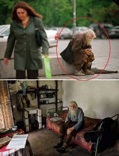 98 year old Dobri Dobrev, a man who lost his hearing in WWII, walks 10 km  from his village in homemade clothes to the city of Sofia, where he begs for money. Though well known around the city's churches, for his prostrations of thanks to all donors, it was recently discovered that he has donated everything collected — over 40,000 euros — towards the restoration of Bulgarian monasteries and churches and the utility bills of orphanages, living instead off his monthly state pension of 80…