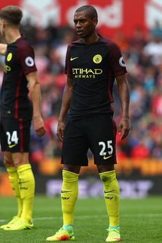 Fernandinho of Manchester City during the Premier League match between Stoke City and Manchester City at the Britannia Stadium on August 20 2016 in...