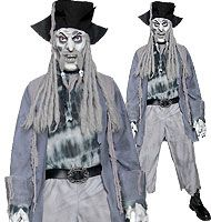 pirate ghost costume man | Zombie Ghost Pirate This Zombie pirate ainu0027t Captain  sc 1 st  Pinterest & Halloween Costumes Men: Ghost Pirate Captain Costume Adult One Size ...