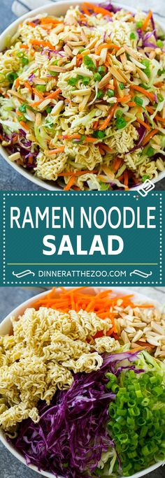 Ramen Noodle Cabbage Salad , fully reflects the desired Ramen Noodle Salad theme. Coleslaw With Ramen Noodles, Ramen Noodle Cabbage Salad, Cabbage Salad Recipes, Asian Cabbage Salad, Ramon Noodle Salad Recipes, Ramin Noodle Recipes, Asian Ramen Salad, Noodle Salads, Ramen Noodles Recipes Easy